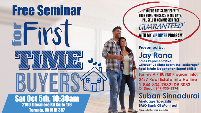 GTA VIP First Time Home Buyer Seminar Tidbit 1 - it costs more to buy a home in Toronto!